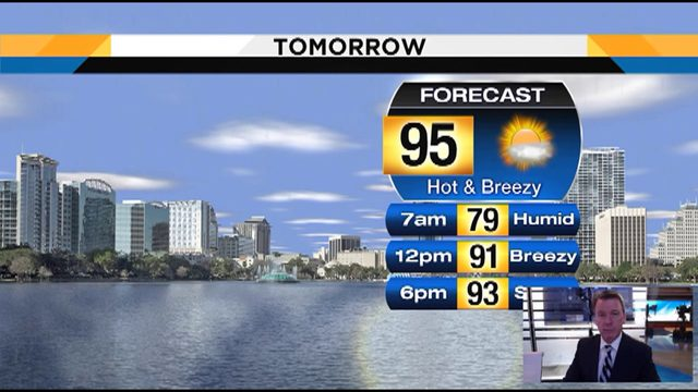 Temps could hit 95 in Central Florida on Saturday