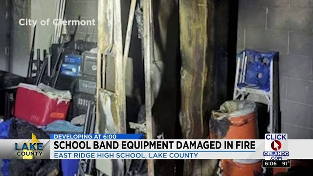 School Band Equipment Damaged in Fire