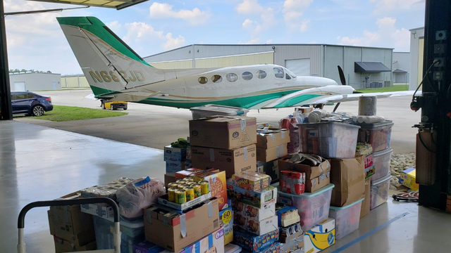 Donations pile up in Sanford for Abaco relief
