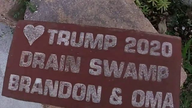 President Trump brick removed from sidewalk in New Smyrna Beach sparks…
