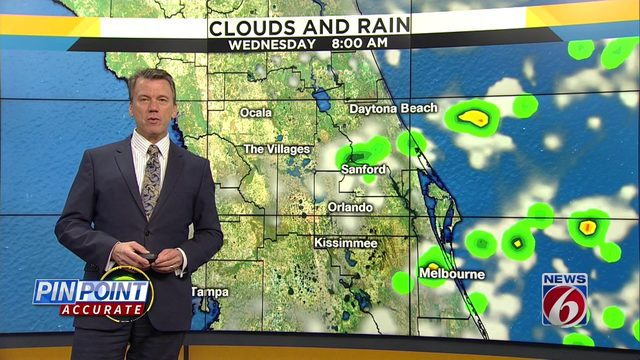 Temps could hit low 90s in Central Florida on Wednesday