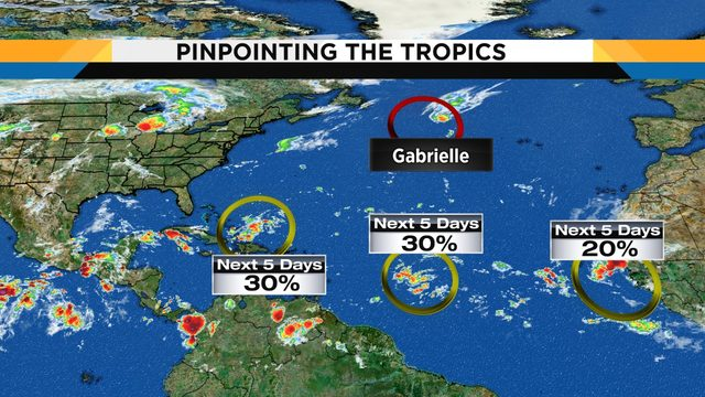 System in tropics to bring rain to Central Florida