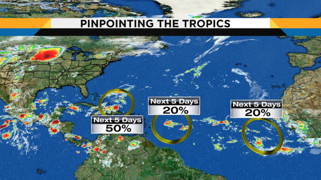 Disturbance in Atlantic means more rain for your weekend