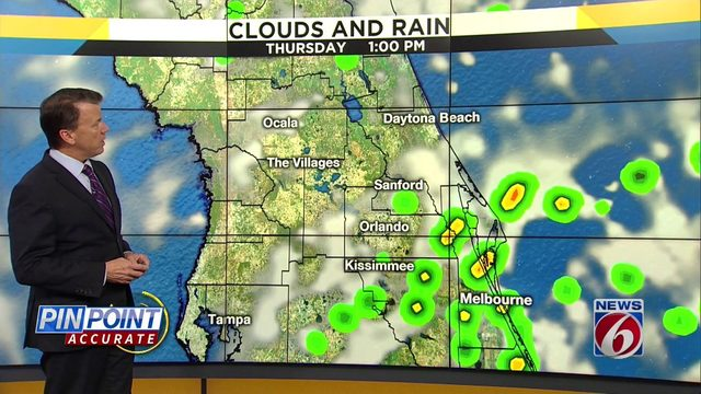 Rain is expected to hit Central Florida this weekend