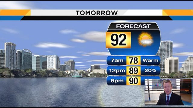 Temps could hit 92 on Thursday in Central Florida