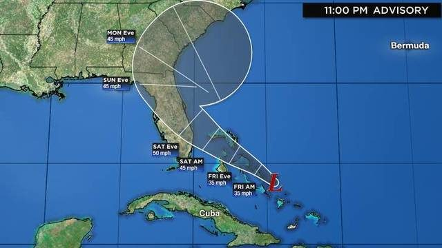 TRACKING THE TROPICS: Latest track, models, more for disturbance near Bahamas