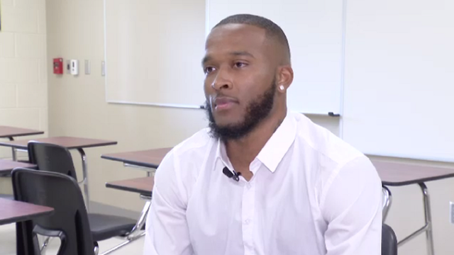 Orlando man mentors at high school he once dropped out of