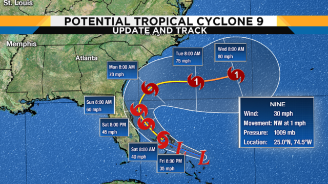 Latest track, models: Tropical disturbance likely to become Tropical…