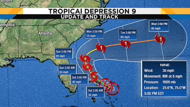 Latest track, models: Tropical Depression likely to become Tropical…