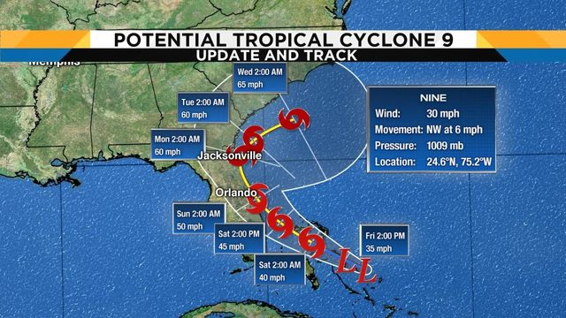 Tropical Cyclone 9 could become Tropical Storm Humberto