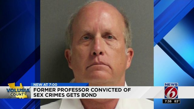 Former Professor convicted of sex crimes gets bond