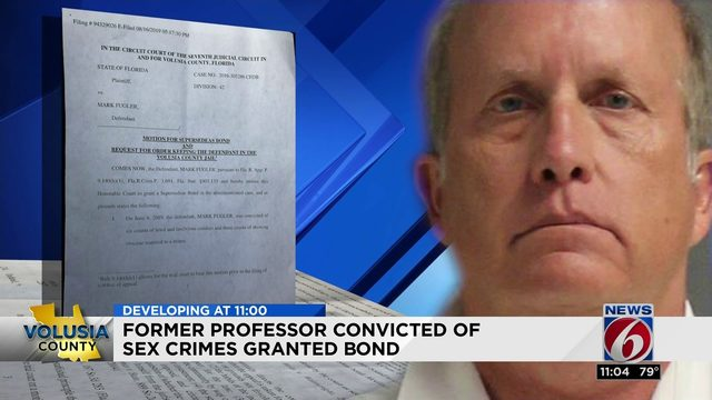 Former professor convicted of sex crimes granted bond