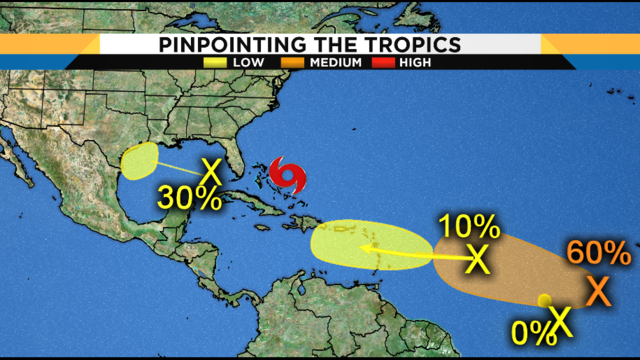 Tropics staying hot, no immediate threat to Florida