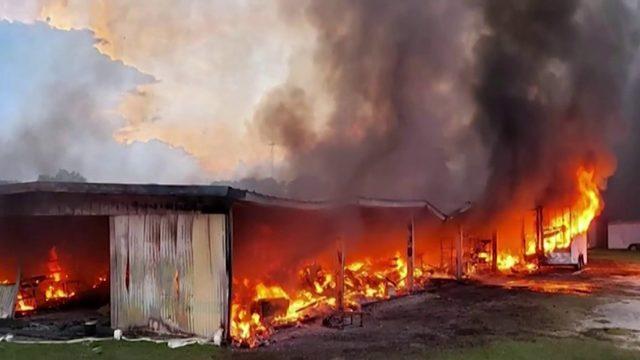 Flea market back open after fire