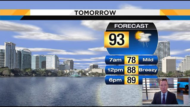 Temps could hit 93 on Tuesday in Central Florida