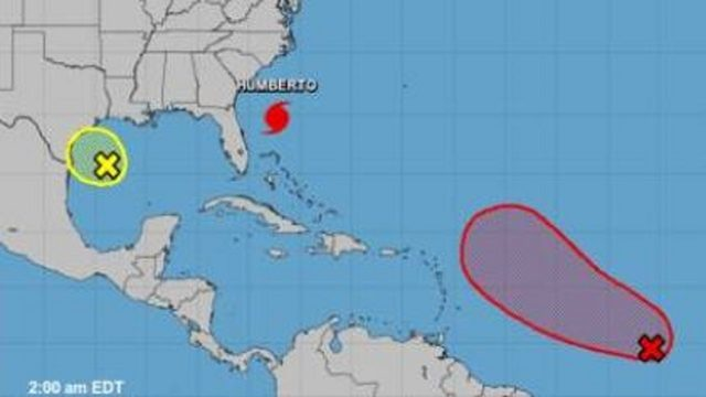 Tropics continue to bubble as Humberto pulls away from Florida