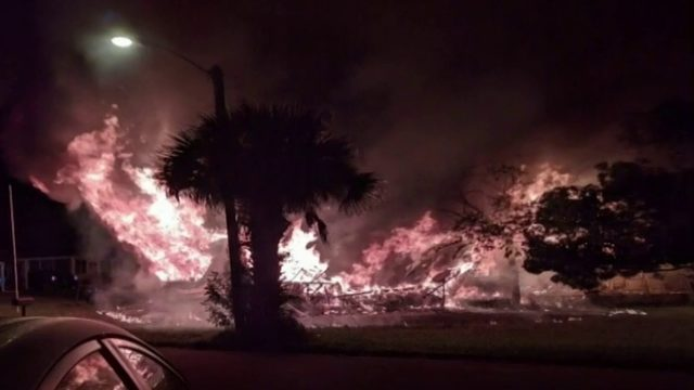Edgewater home destroyed after explosion, inferno