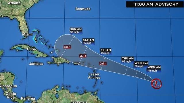 Tropical depression expected to become Hurricane Imelda later this week