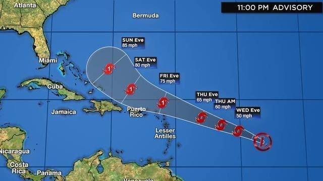 Tropical Depression 10: Track, computer models, satellite