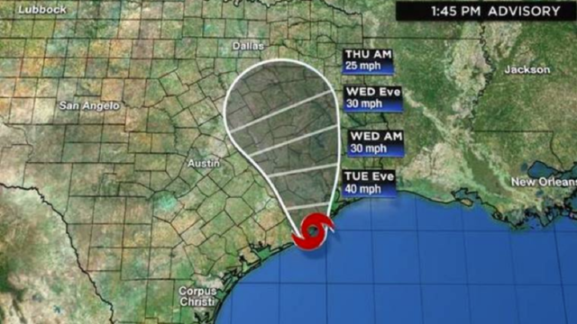 Tropical Storm Imelda forms south of Texas