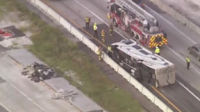 Overturned RV slows I-4 near Maitland Boulevard