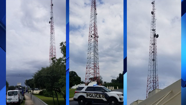 TIMELINE: Man safe after climbing 400-foot WKMG Tower