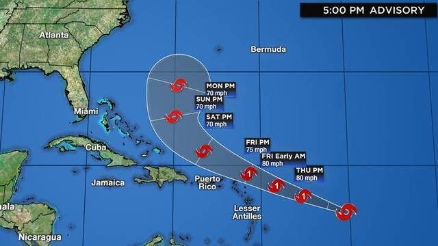 WATCH LIVE: Tracks, models for Tropical Storm Jerry