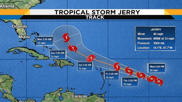 Will Tropical Storm Jerry threaten Florida?