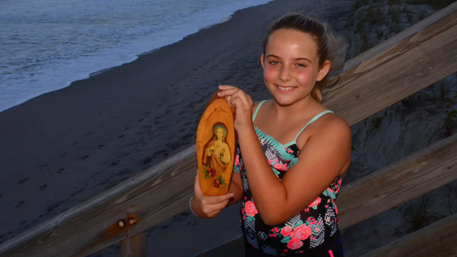 Hurricane Humberto's waves wash mystery Jesus plaque ashore near Melbourne Beach