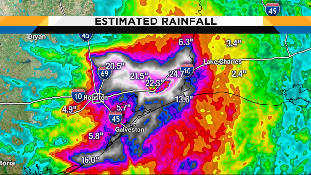 40-inches of rain: Imelda causes extreme flooding in Texas