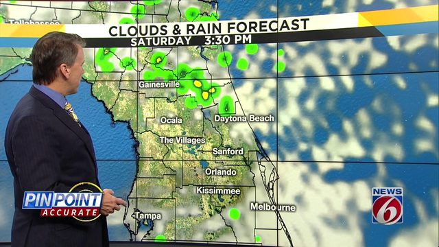 Scattered showers can't be ruled out in Orlando area