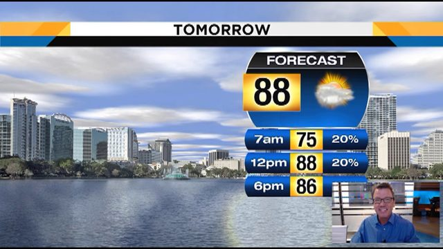 Temps could hit 88 in Central Florida on Thursday