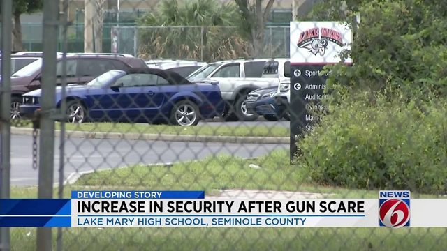 Increase in security after gun scare