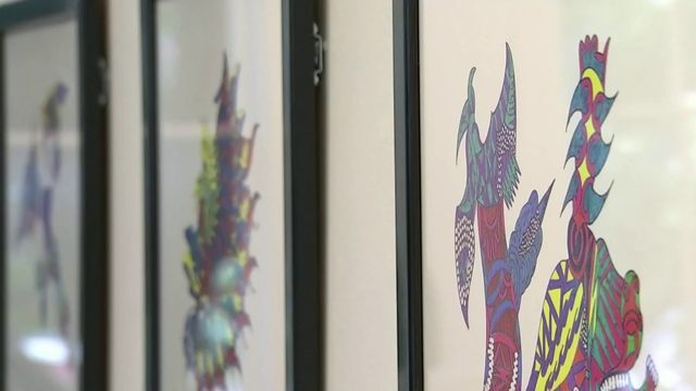 Jimi Hendrix's art displayed for first time