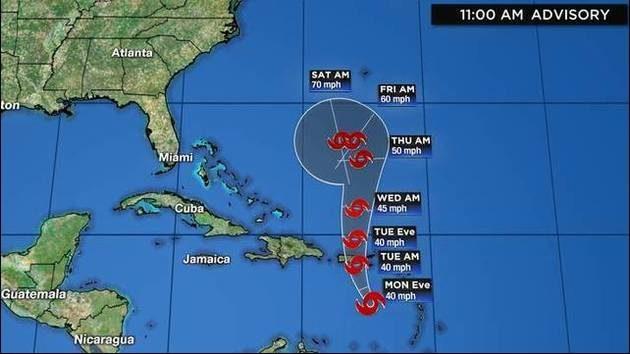 Tropical Storm Karen: Track, computer models, updates