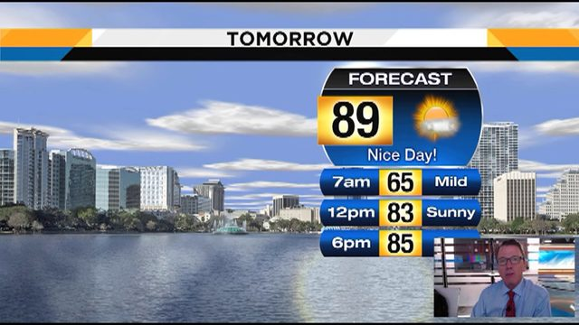 Temps could hit 89 on Tuesday in Central Florida