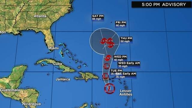Tropical Depression Karen: Track, computer models, updates