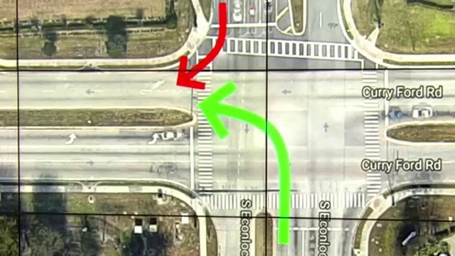 Who has right of way: Left on green or right in opposite direction?