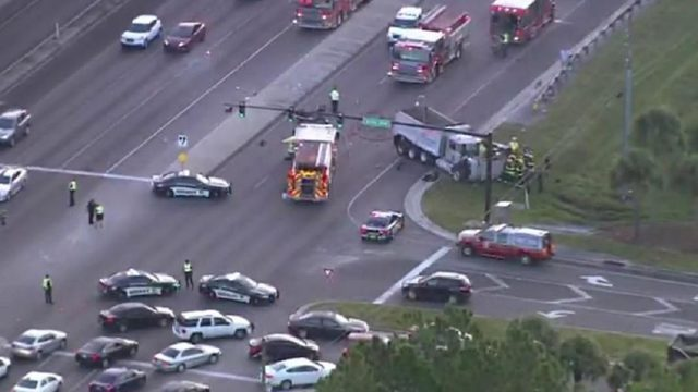 Motorcyclist, 19-year-old woman killed in 3-vehicle crash near Kissimmee