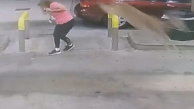 Oh deer! Georgia woman pumping gas kicked in head by deer