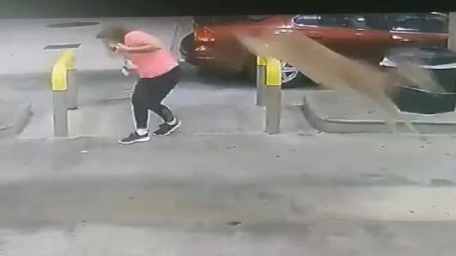 Oh, deer! Video shows animal kicking woman at gas station