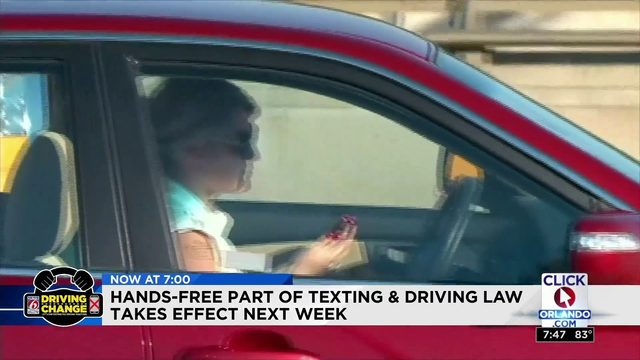 Hands-free texting & driving takes effect next week