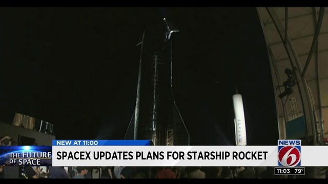 SpaceX updates plans for starship rocket