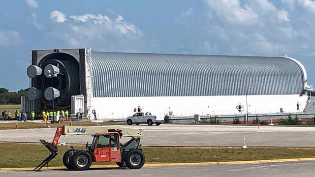 NASA's megarocket core replica will help KSC prepare for moon launch