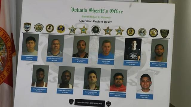 11 men arrested in Volusia internet predator sting operation