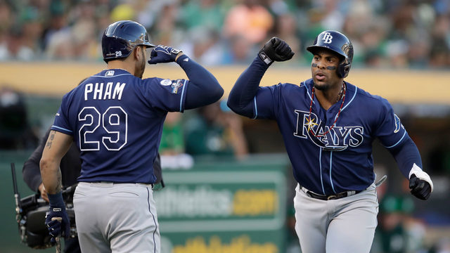 Rays hit 4 homers in Wild Card win against A's