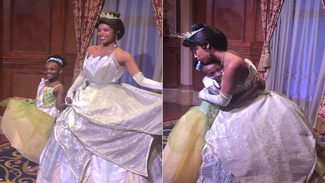 Adorable little girl goes viral dancing at Disney