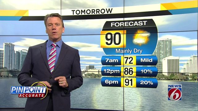 Rain chances at 20 percent for Friday in Central Florida