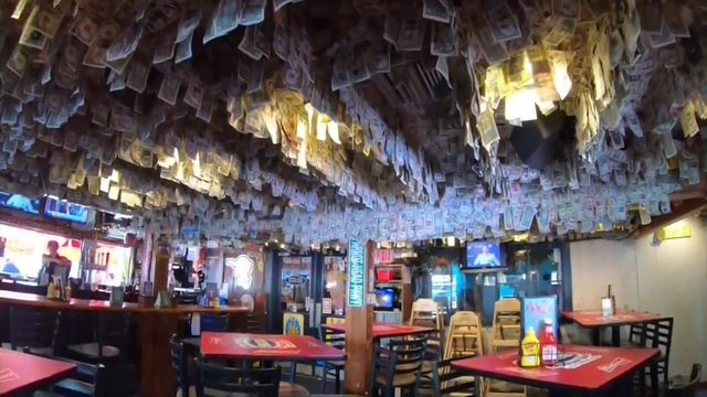 Florida bar pulls nearly $15,000 in bills from wall for Bahamas relief