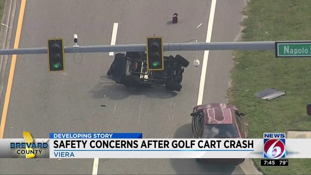 Safety concerns after a golf cart crash in Brevard County